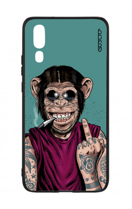 Huawei P20 WHT Two-Component Cover - Monkey's always Happy