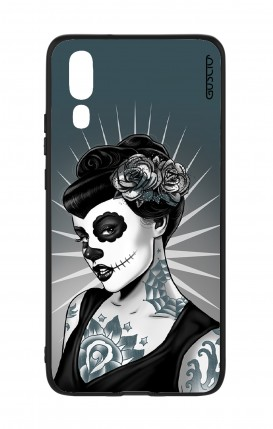 Huawei P20 WHT Two-Component Cover - Calavera Grey Shades