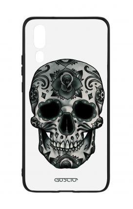 Cover Bicomponente Huawei P20 - Teschio calavera scuro