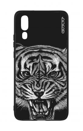 Huawei P20 WHT Two-Component Cover - Black Tiger