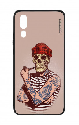 Huawei P20 WHT Two-Component Cover - Skull Sailor with Red Cup