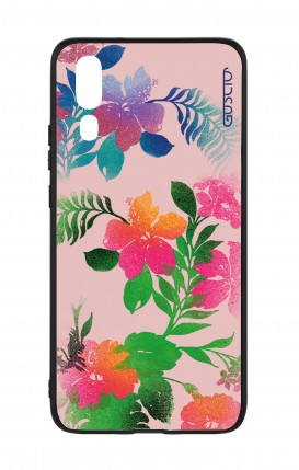 Huawei P20 WHT Two-Component Cover - Flowers Pink