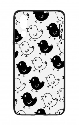 Huawei P20 WHT Two-Component Cover - Black & White Chicks