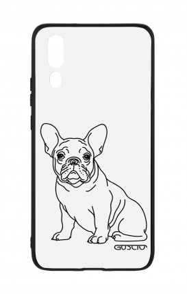 Huawei P20 WHT Two-Component Cover - French Bulldog