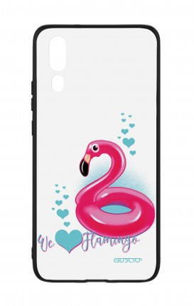 Huawei P20 WHT Two-Component Cover - We Love Flamingo