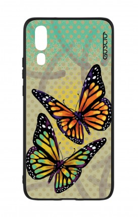 Huawei P20 WHT Two-Component Cover - Polka dot and butterflies