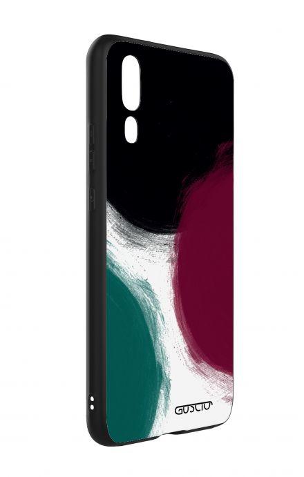Cover Bicomponente Huawei P20 - Grandi pois