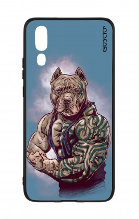 Huawei P20 WHT Two-Component Cover - Pitbull Tattoo