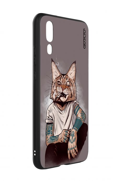 Cover Bicomponente Huawei P20 - Lince Tattoo