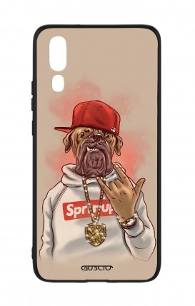 Huawei P20 WHT Two-Component Cover - Rap Dog