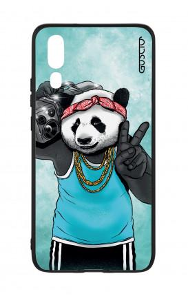 Cover Bicomponente Huawei P20 - Panda anni '80