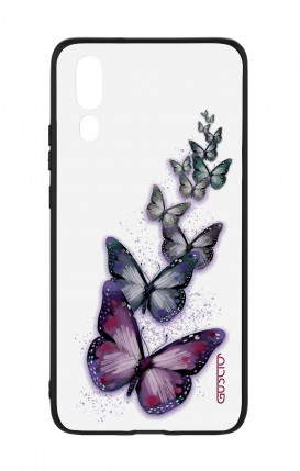 Huawei P20 WHT Two-Component Cover - Butterflies