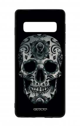 Samsung S10Plus WHT Two-Component Cover - Dark Calavera Skull