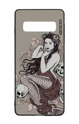 Samsung S10Plus WHT Two-Component Cover - Mermaid with skulls