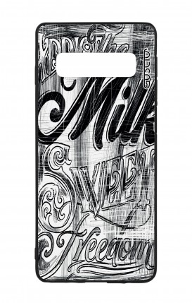 Samsung S10Plus WHT Two-Component Cover - Black and white graffiti