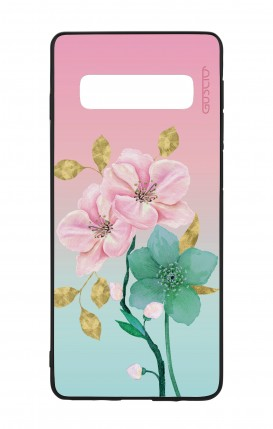 Samsung S10e Lite WHT Two-Component Cover - Pink Flowers