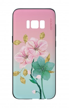 Samsung S8 White Two-Component Cover - Pink Flowers