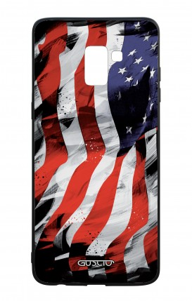 Samsung J6 PLUS 2018 WHT Two-Component Cover - Used America Flag