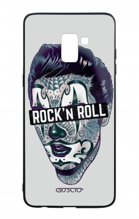 Samsung A8 2018 WHT Two-Component Cover - The Rock'n'Roll Clown King