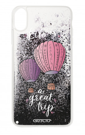 Cover GLITTER Liquid Apple iphone XR BLK - Life is a Great Trip