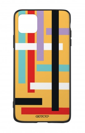 Apple iPhone 11 PRO Two-Component Cover - Yellow Lines Abstract