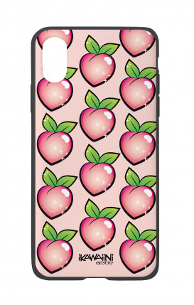 Apple iPhone X White Two-Component Cover - Peaches Pattern Kawaii