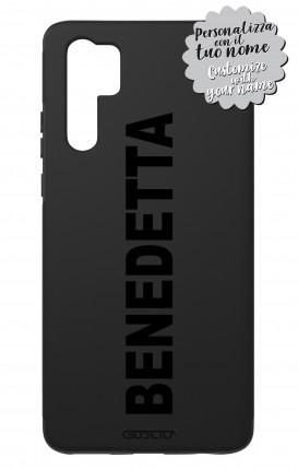 Case Skin Feeling Huawei P30 PRO BLK - Nome Lineare max 13 caratteri