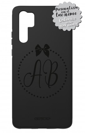 Case Skin Feeling Huawei P30 PRO BLK - InizialiFiocco max 3 caratteri
