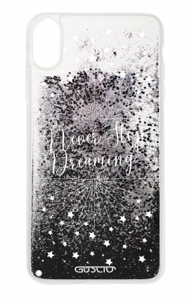 Cover GLITTER Liquid Apple iPhone XR BLACK - Never Stop Dreaming