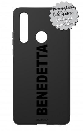 Cover Skin Feeling Huawei P30 Lite Black - Nome Lineare max 13 caratteri