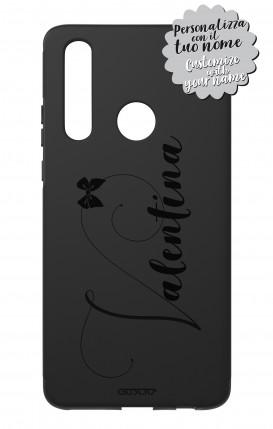 Cover Skin Feeling Huawei P30 Lite Black - Nome Fiocco max 13 caratteri