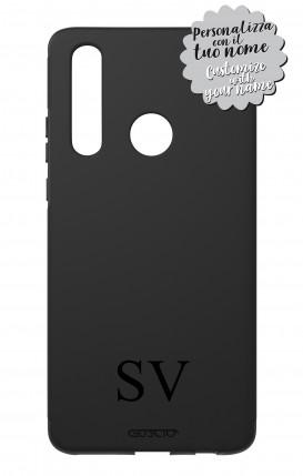 Case Skin Feeling Huawei P30 Lite BLK - InizialiCifre max 3 caratteri