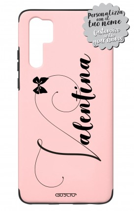 Cover Skin Feeling Huawei P30 PRO Pink - Nome Fiocco max 13 caratteri