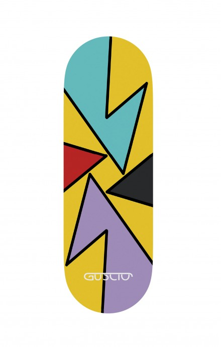 Phone grip - Yellow Abstract with shapes