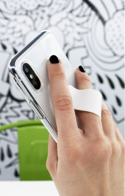 Phone grip - Pink & Blue Polka dot