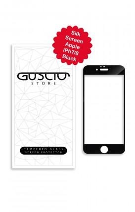 Tempered Glass SilkScreen Apple iPhone 7/8 BLK - Neutro