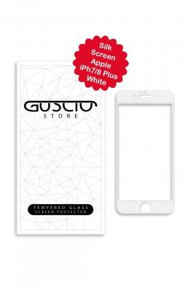 Tempered Glass SilkScreen Apple iPhone 7/8 Plus WHT - Neutro