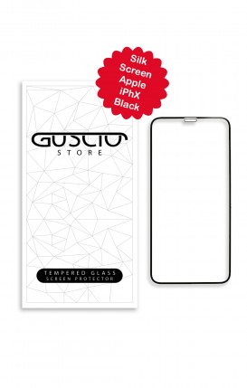 Tempered Glass SilkScreen - Apple iphone X/XS BLK - Neutro