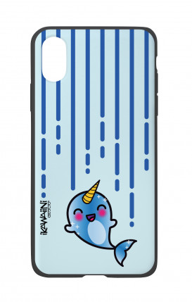 Apple iPhone X White Two-Component Cover - Narwhal Kawaii