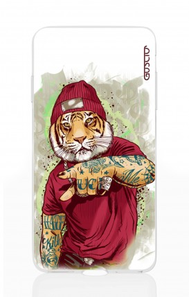 Cover Apple iPhone XS MAX - Tigre Hip Hop bianco