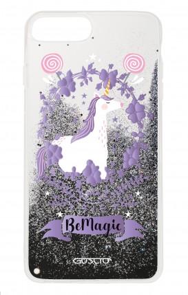 Cover GLITTER Liquid Apple iPhone 6/6s/7/8 BLACK - Unicorno Be Magic