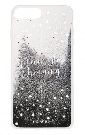 Cover GLITTER Liquid Apple iPhone 6/6s/7/8 Plus BLACK - Never Stop Dreaming