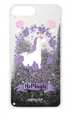 Cover GLITTER Liquid Apple iphone 7/8Plus BLK - Be Magic Unicorn