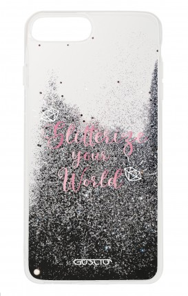 Cover GLITTER Liquid Apple iPhone 6/6s/7/8 Plus BLACK - Glitterize Your World