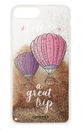 Cover GLITTER Liquid Apple iphone 7/8Plus GLD - Life is a Great Trip