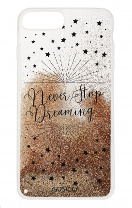 Cover GLITTER Liquid Apple iphone 7/8Plus GLD - Never Stop Dreaming