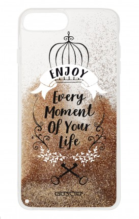 Cover GLITTER Liquid Apple iPhone 6/6s/7/8 Plus GOLD - Enjoy Every Moment...