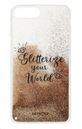 Cover GLITTER Liquid Apple iPhone 6/6s/7/8 Plus GOLD - Glitterize Your World