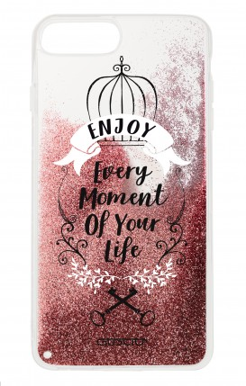 Cover GLITTER Liquid Apple iPhone 6/6s/7/8 Plus PINK - Enjoy Every Moment...