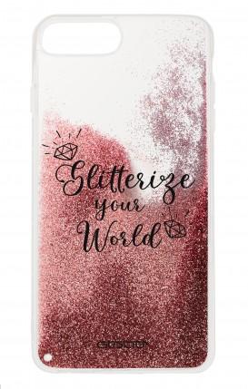 Cover GLITTER Liquid Apple iphone 7/8Plus PNK - Glitterize Your World